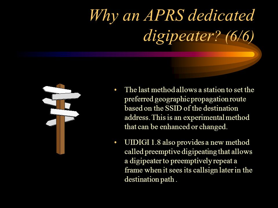 Why an APRS dedicated digipeater (6/6)