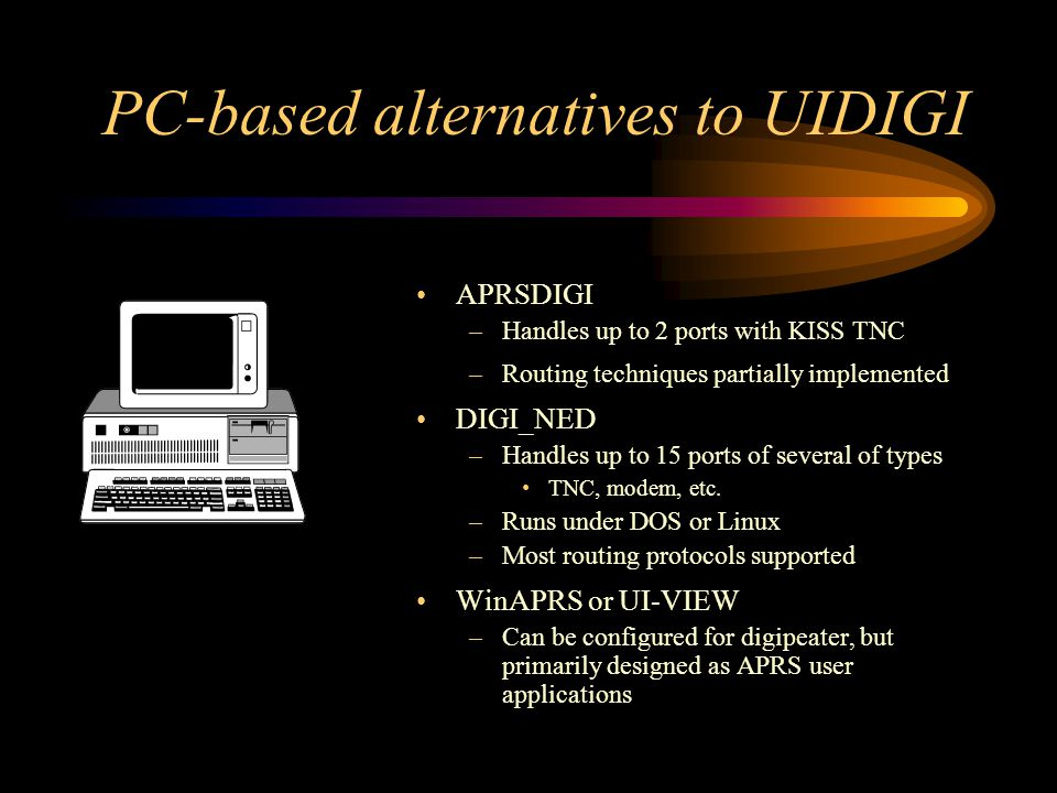 PC-based alternatives to UIDIGI