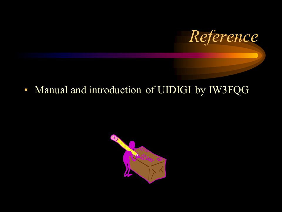 Reference Manual and introduction of UIDIGI by IW3FQG