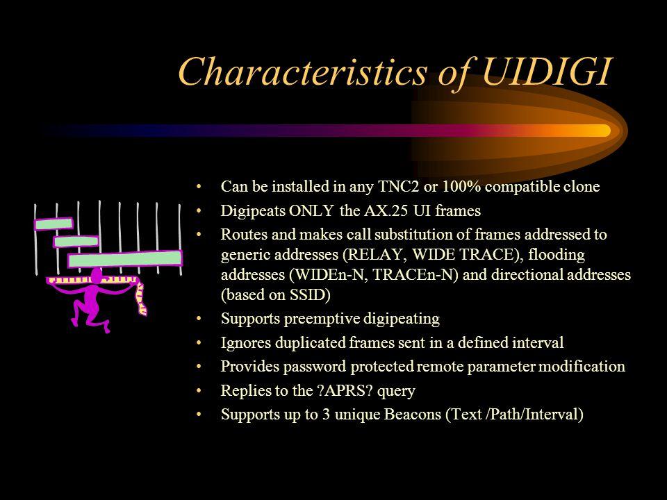 Characteristics of UIDIGI