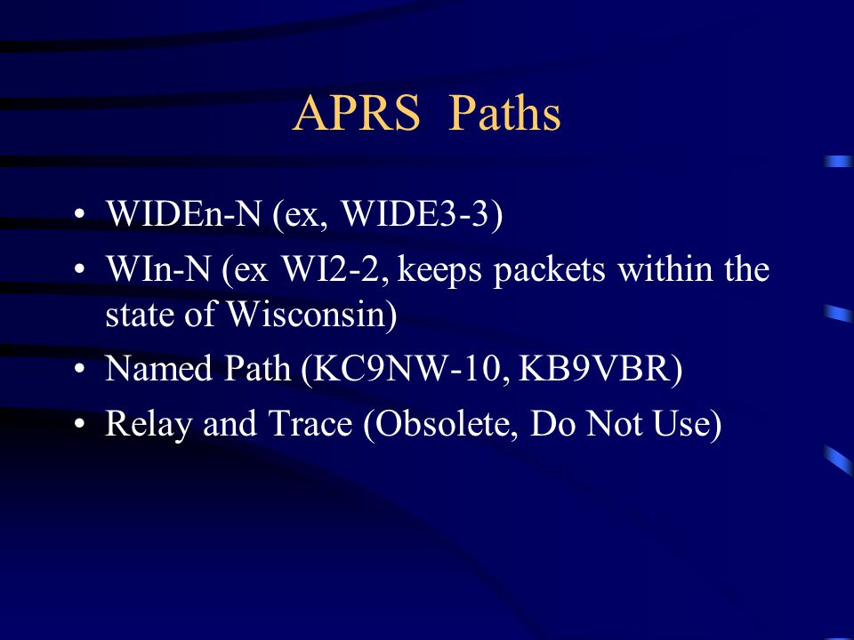 APRS Paths WIDEn-N (ex, WIDE3-3)