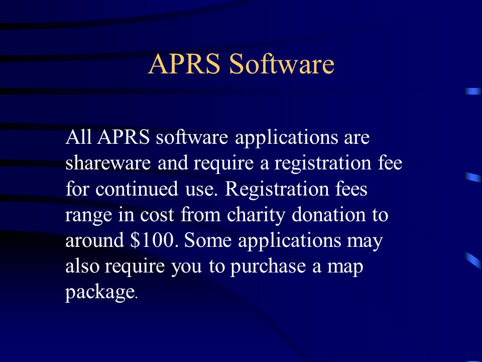 APRS Software