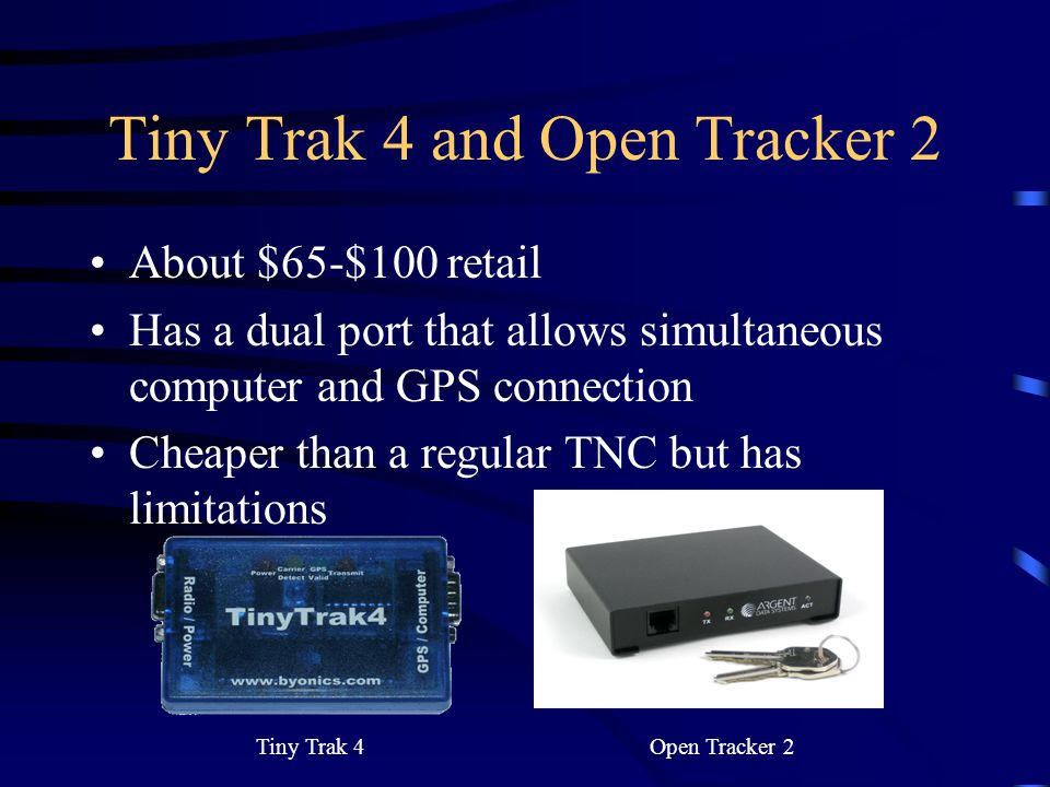 Tiny Trak 4 and Open Tracker 2