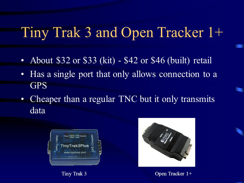 Tiny Trak 3 and Open Tracker 1+