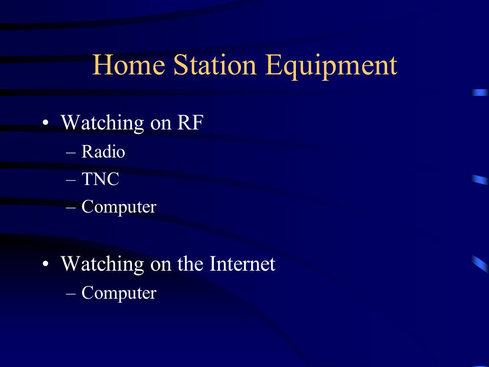 Home Station Equipment