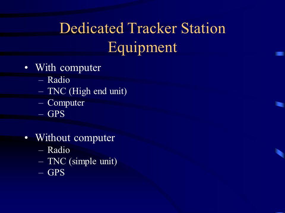 Dedicated Tracker Station Equipment