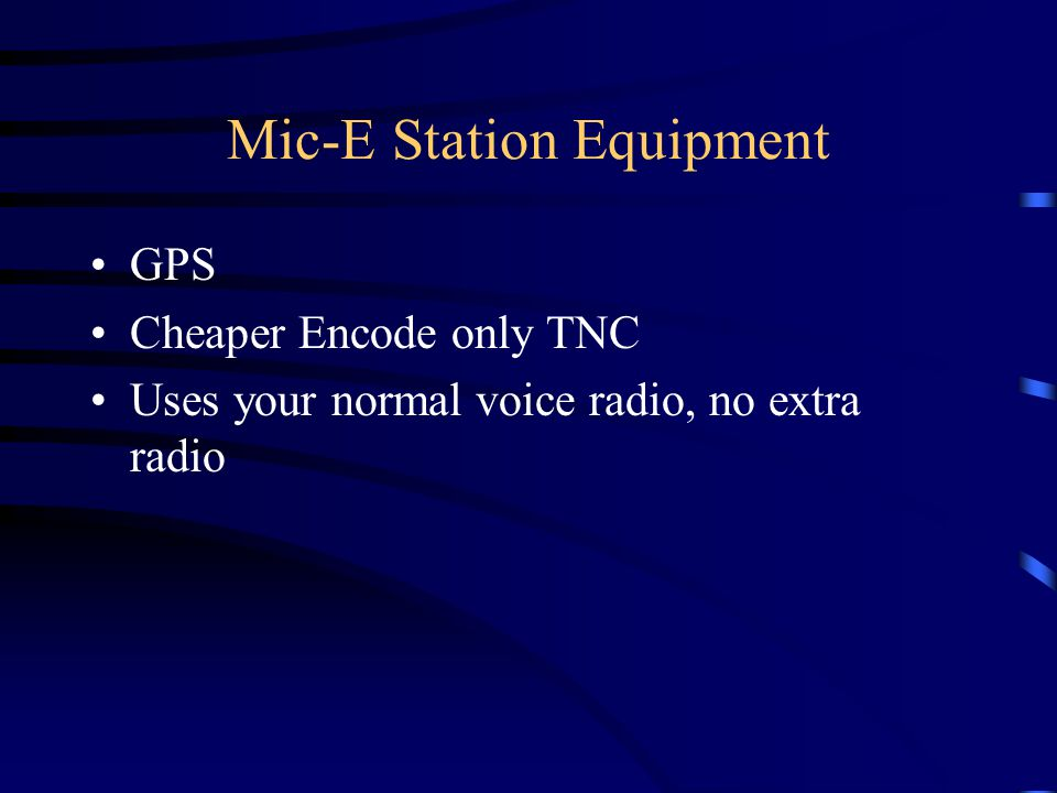 Mic-E Station Equipment