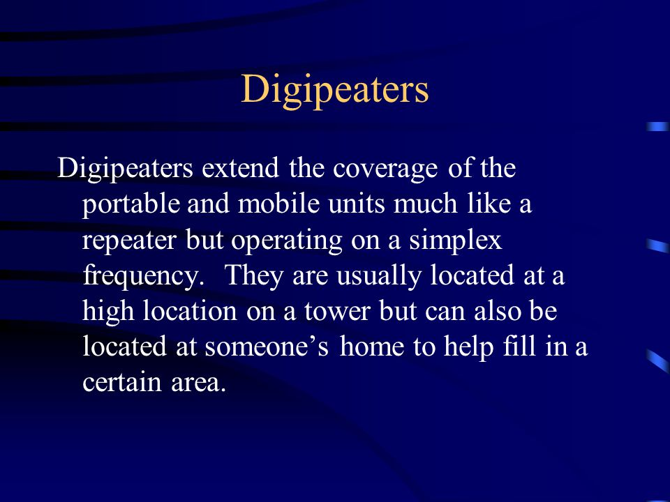 Digipeaters
