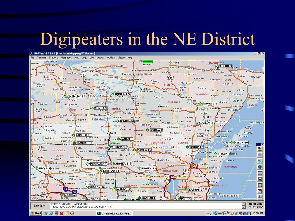Digipeaters in the NE District