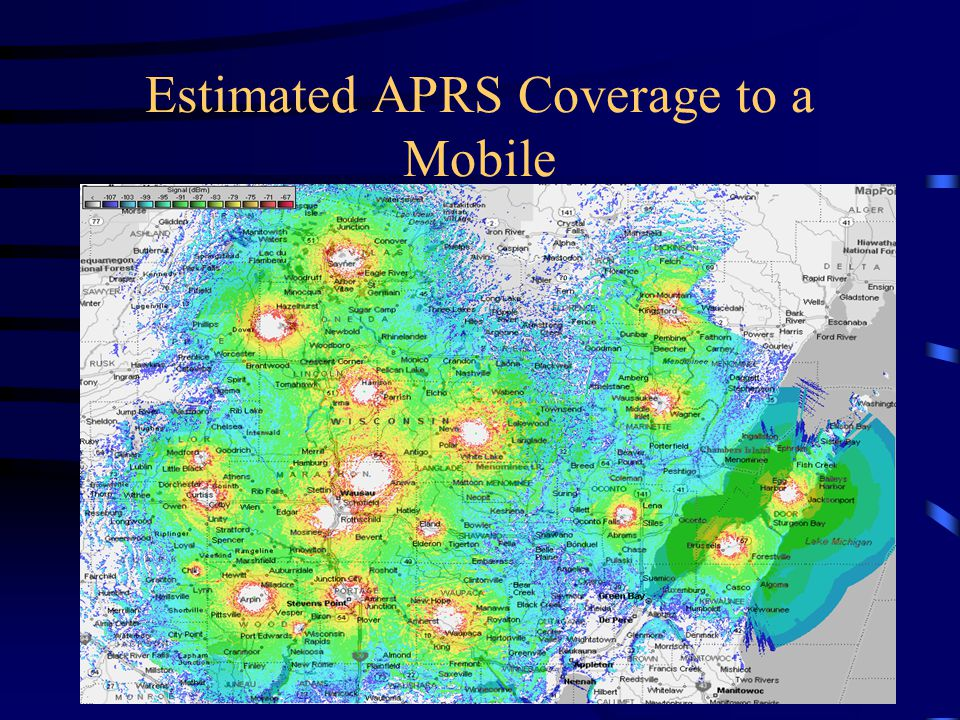 Estimated APRS Coverage to a Mobile