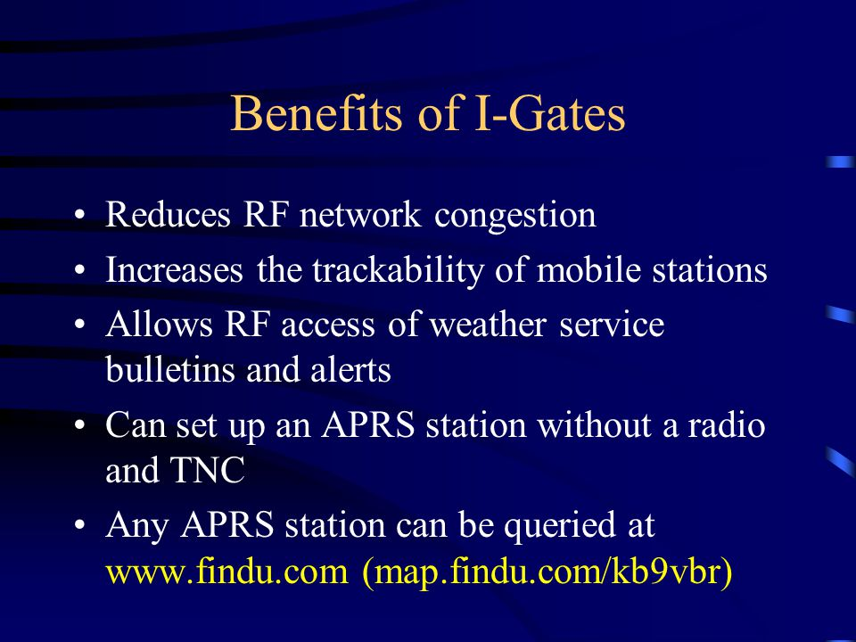 Benefits of I-Gates Reduces RF network congestion