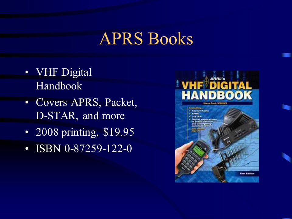 APRS Books VHF Digital Handbook Covers APRS, Packet, D-STAR, and more