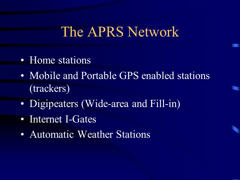 The APRS Network Home stations