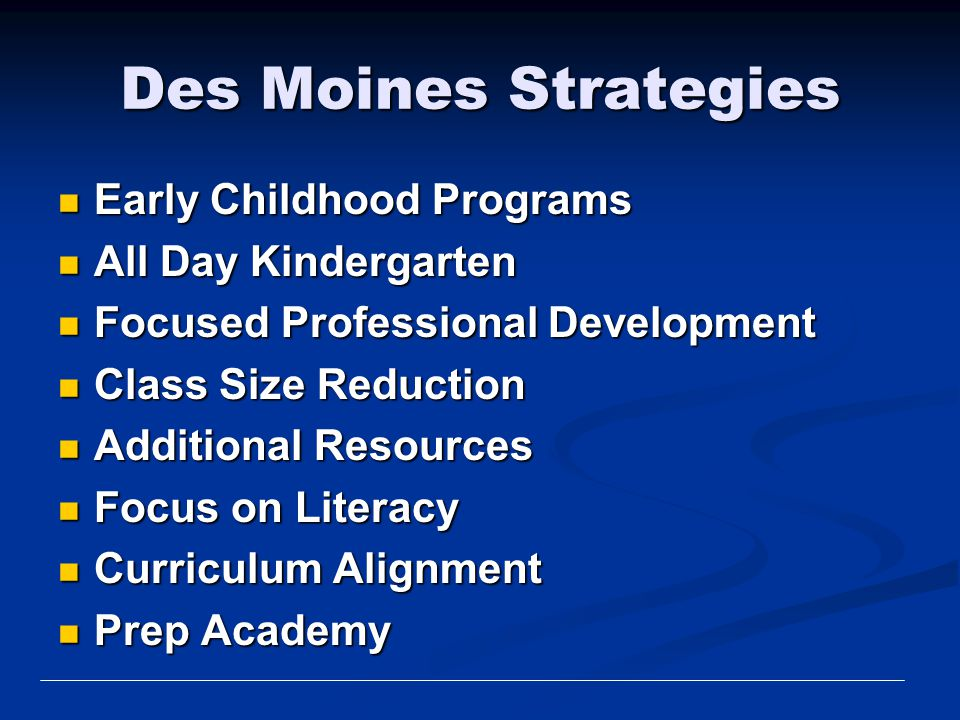 Des Moines Strategies Early Childhood Programs All Day Kindergarten