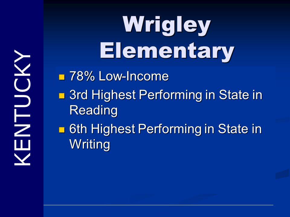 Wrigley Elementary KENTUCKY 78% Low-Income