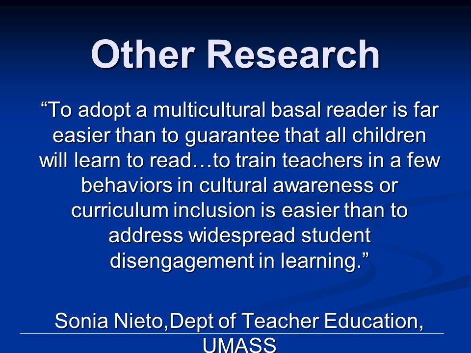 Sonia Nieto,Dept of Teacher Education, UMASS