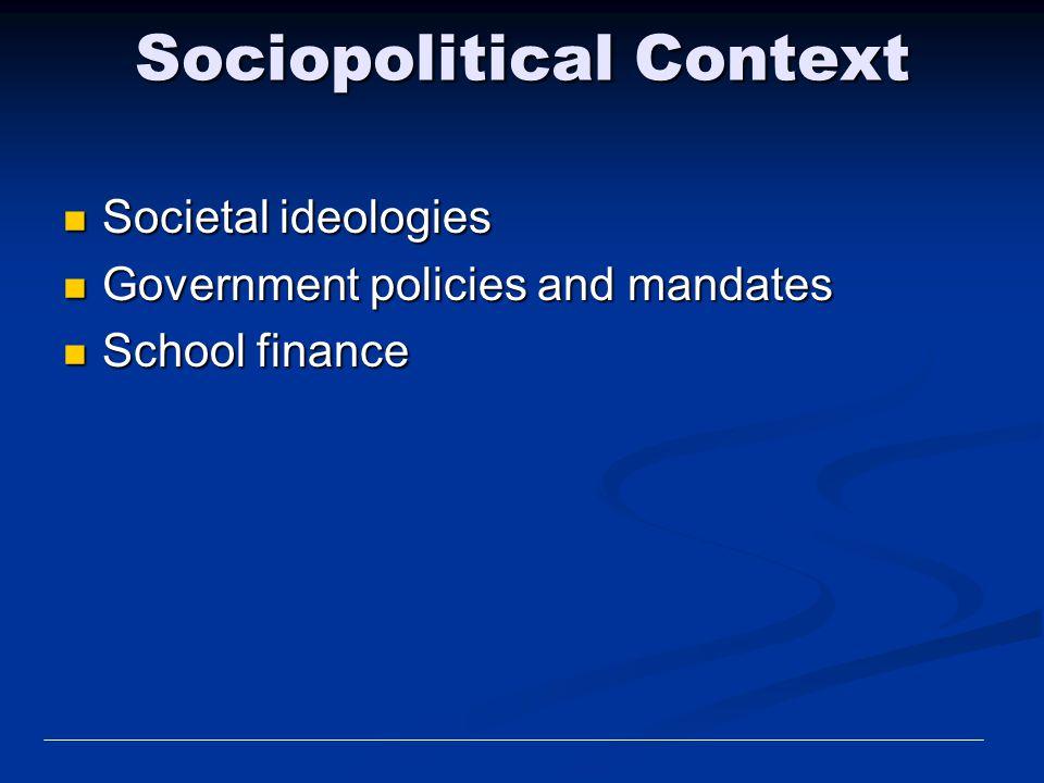 Sociopolitical Context