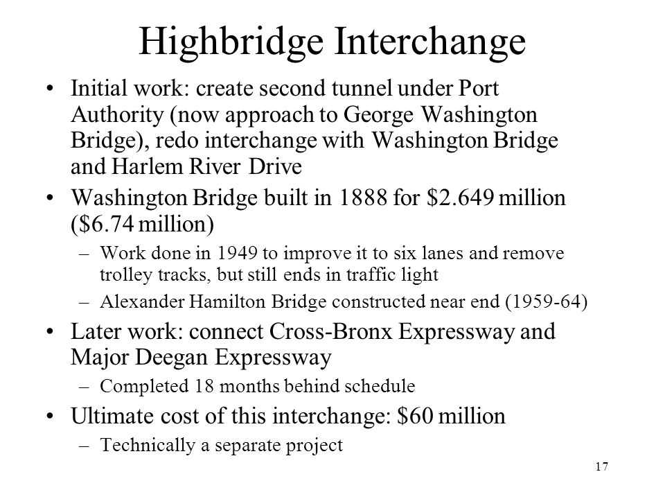 Highbridge Interchange