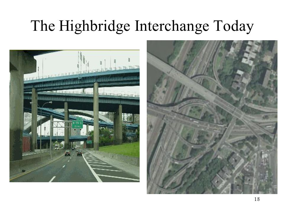 The Highbridge Interchange Today