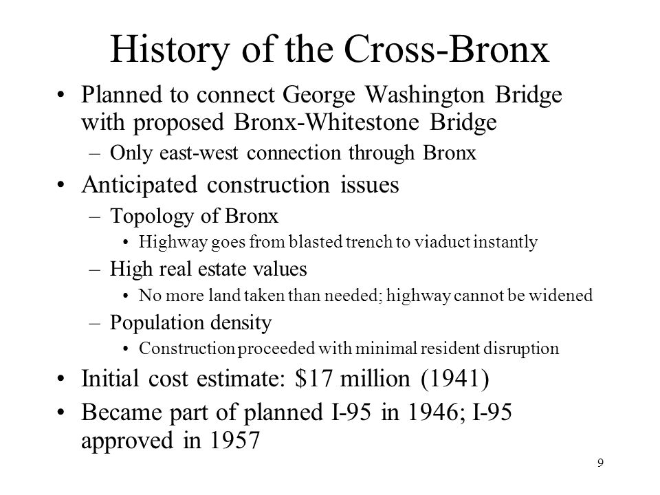 History of the Cross-Bronx