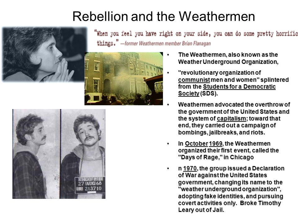 Rebellion and the Weathermen