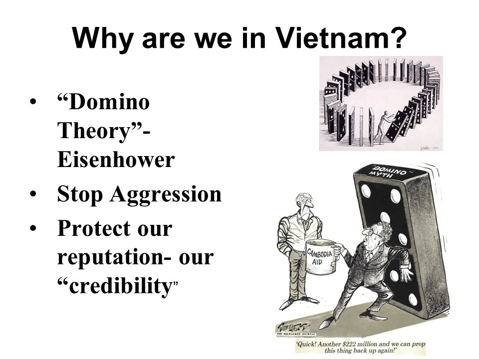 Why are we in Vietnam Domino Theory - Eisenhower Stop Aggression