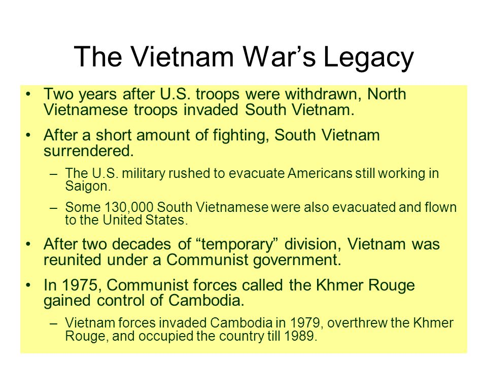 The Vietnam War's Legacy