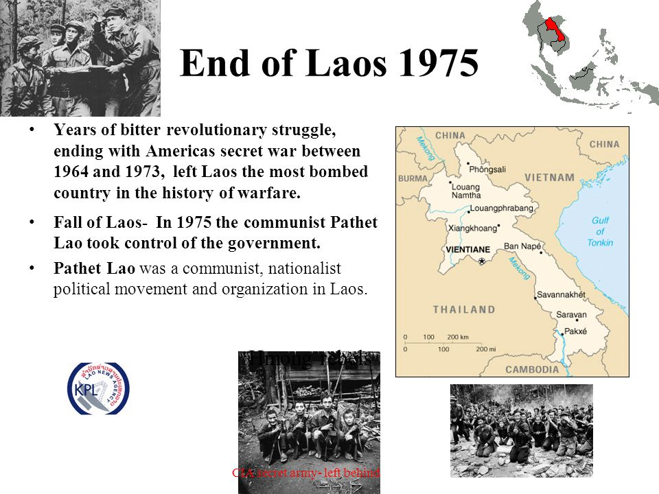End of Laos 1975 Hmong rebels