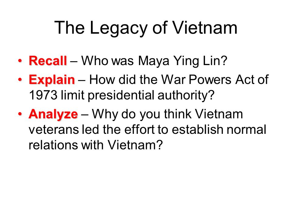The Legacy of Vietnam Recall – Who was Maya Ying Lin