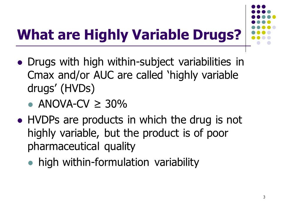 What are Highly Variable Drugs