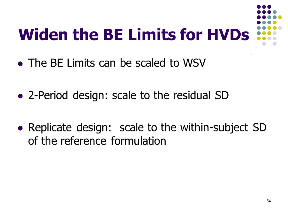 Widen the BE Limits for HVDs