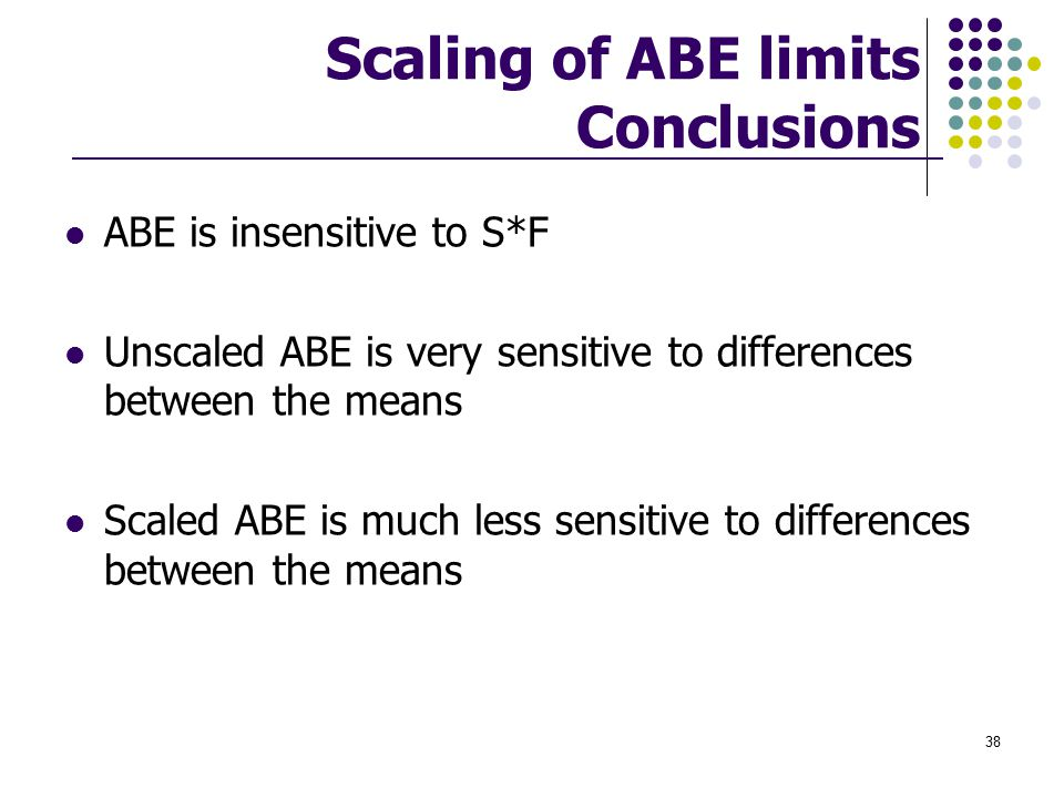 Scaling of ABE limits Conclusions