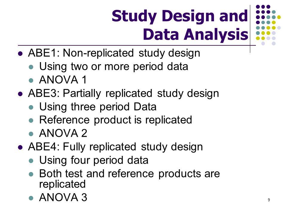 Study Design and Data Analysis