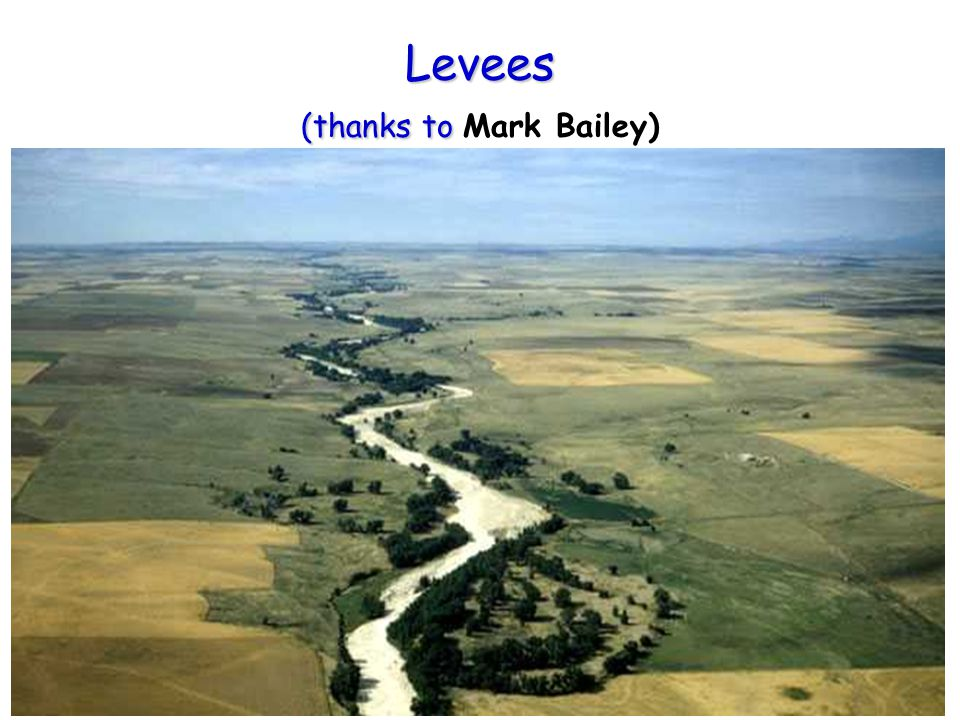 Levees (thanks to Mark Bailey)