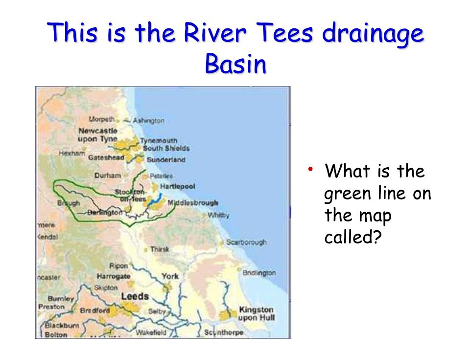 This is the River Tees drainage Basin