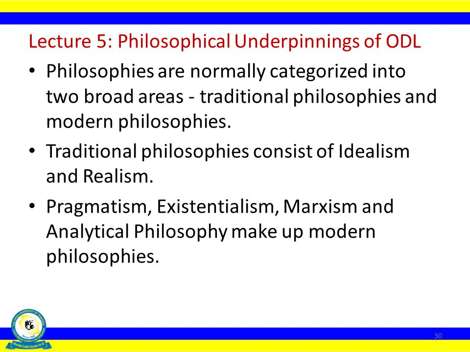Lecture 5: Philosophical Underpinnings of ODL