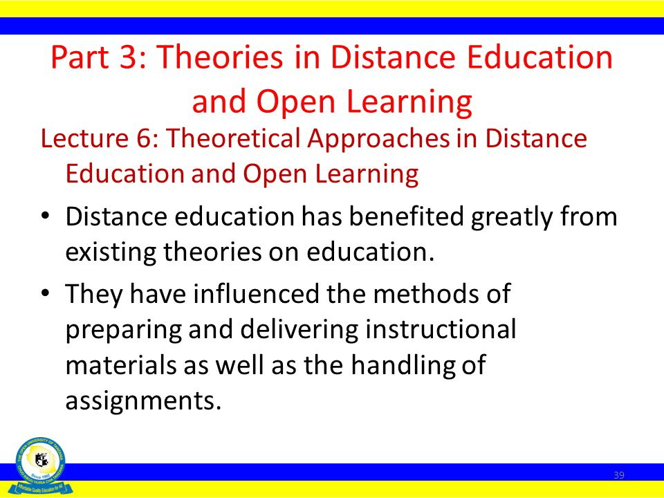 Part 3: Theories in Distance Education and Open Learning