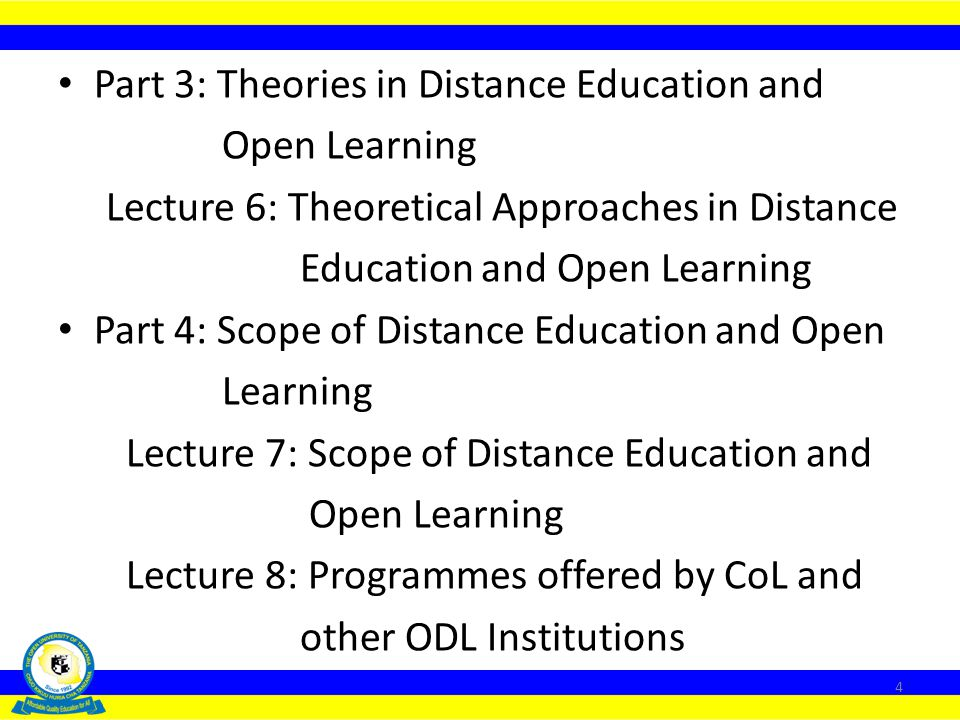 Part 3: Theories in Distance Education and