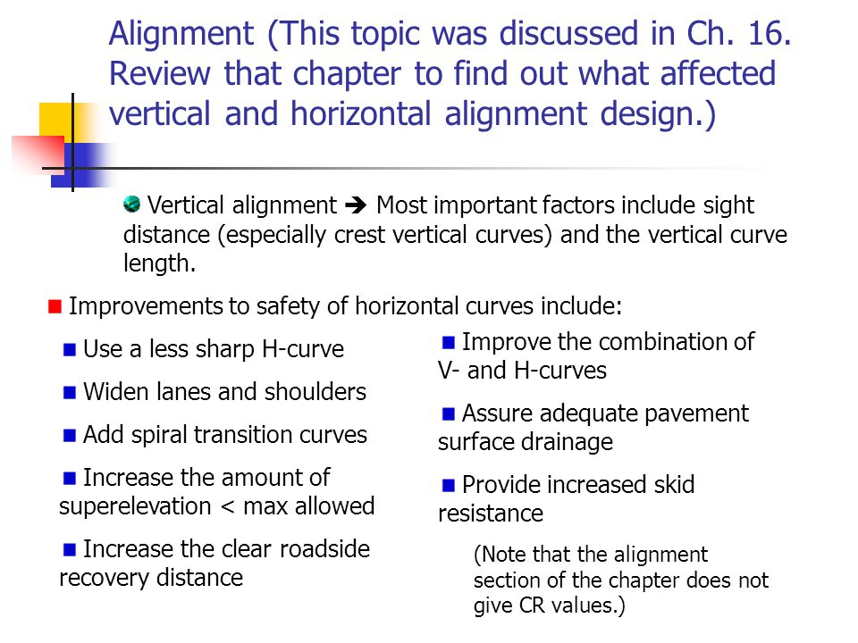 Alignment (This topic was discussed in Ch. 16