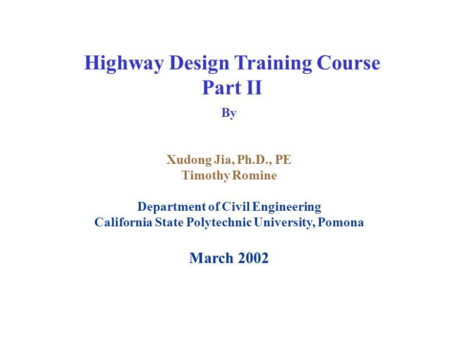 Highway Design Training Course Part II