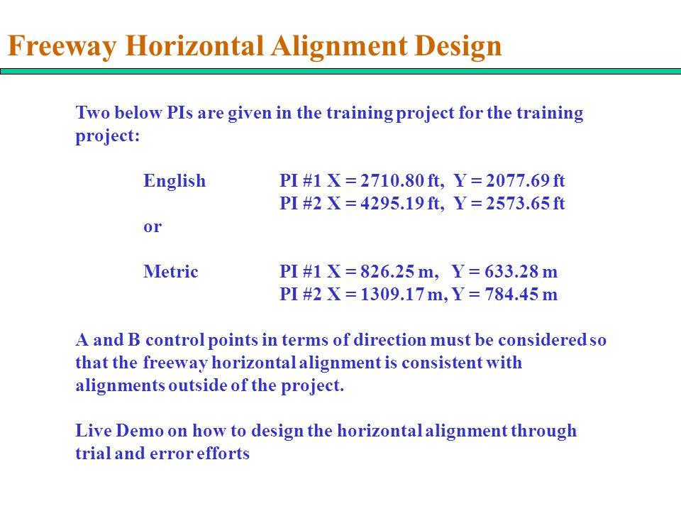 Freeway Horizontal Alignment Design
