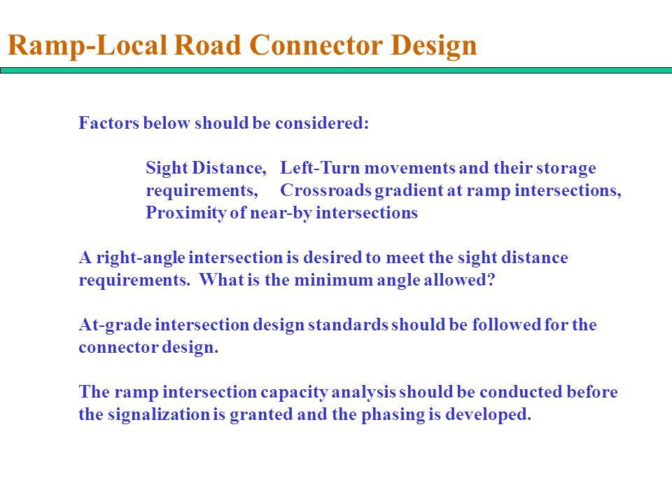Ramp-Local Road Connector Design