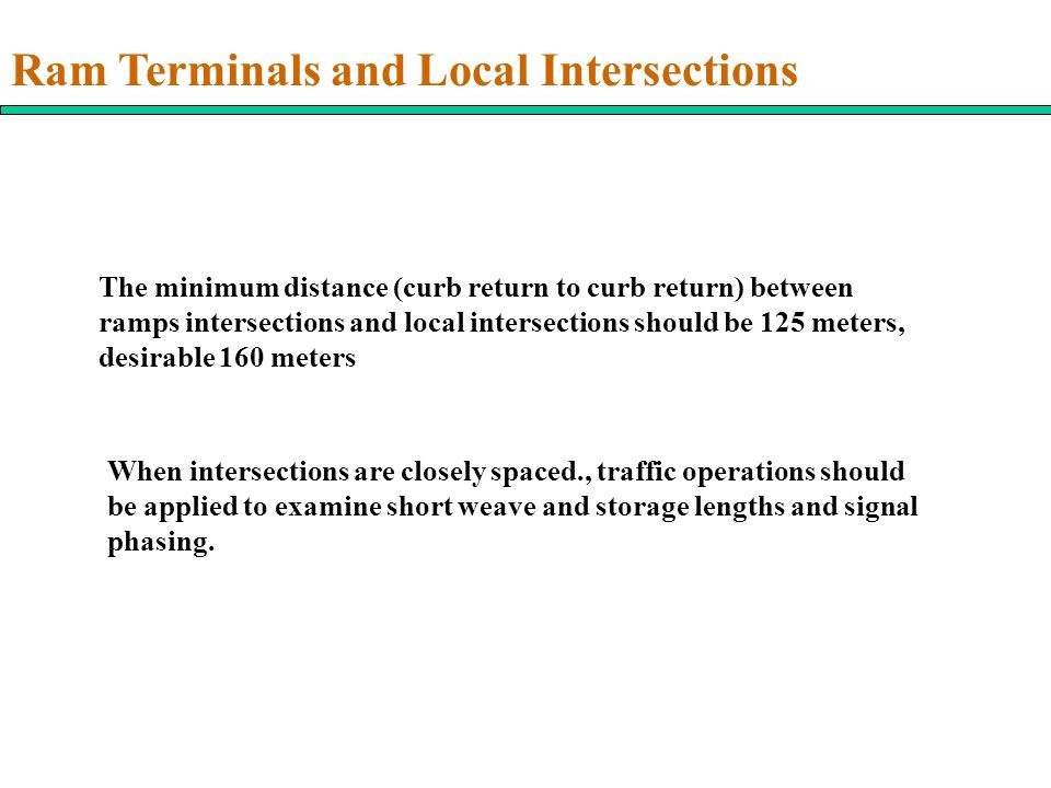 Ram Terminals and Local Intersections