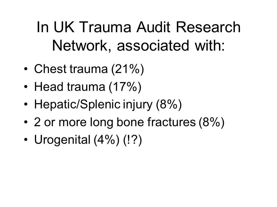 In UK Trauma Audit Research Network, associated with: