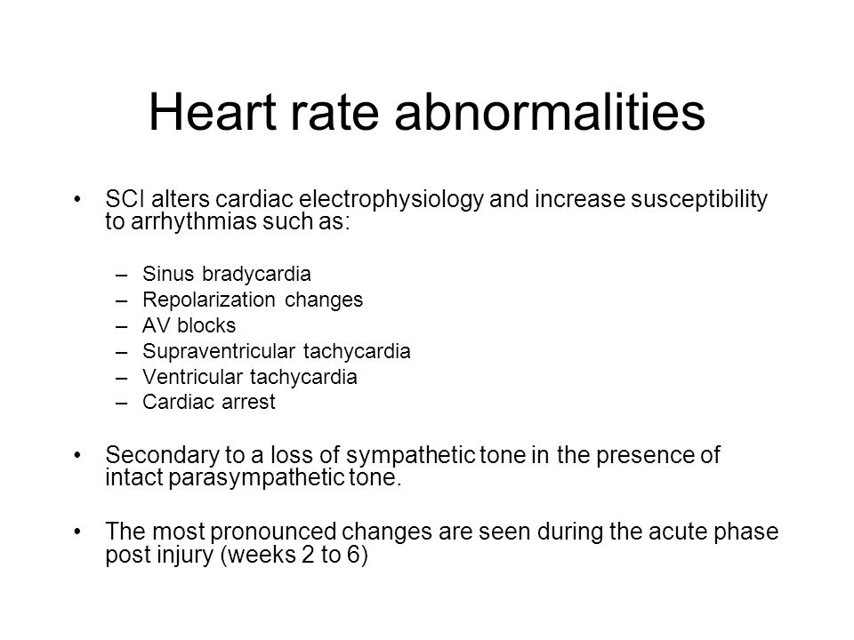 Heart rate abnormalities