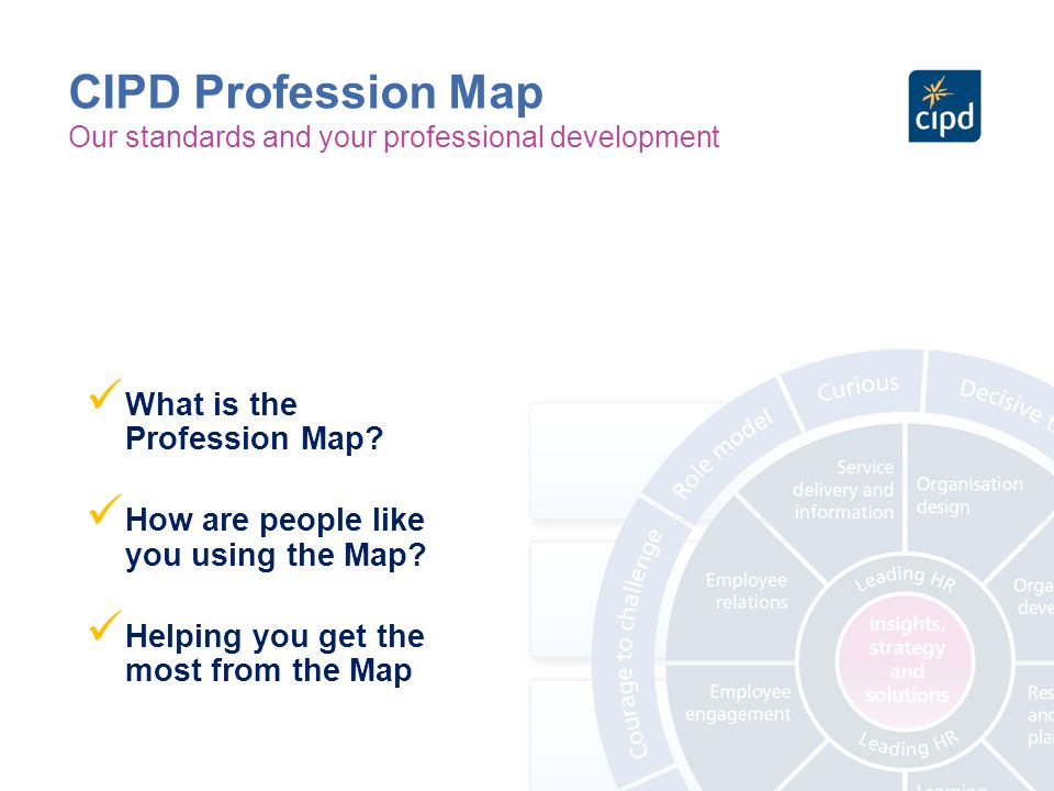CIPD Profession Map What is the Profession Map