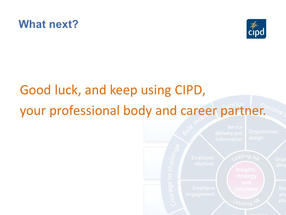 report on the cipd professional map Introduction this report is a brief summary of the cipd profession map, the two core professional areas, the specialist areas, the bands and the behaviours.