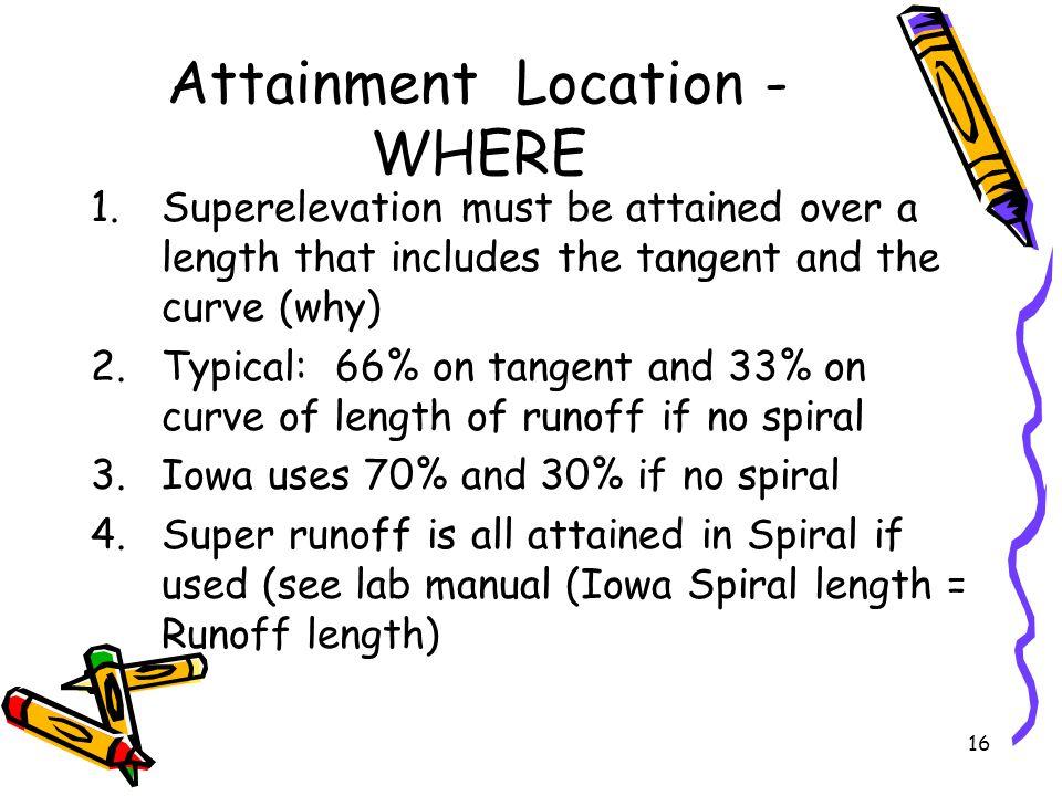 Attainment Location - WHERE