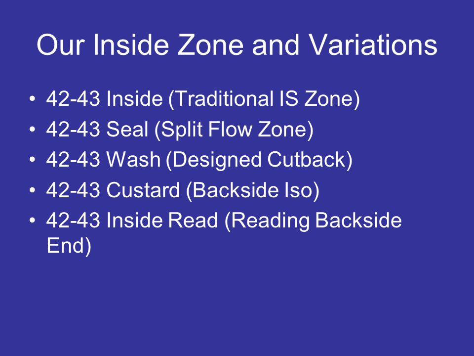 Our Inside Zone and Variations