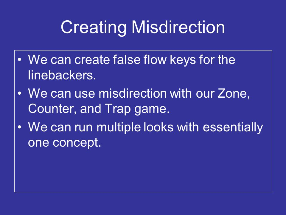 Creating Misdirection